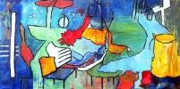A18 Vielfaeltiges Leben I 2005 Acryl LW 20x50