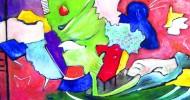 A19 Vielfaeltiges Leben VII 2005 Acryl LW 20x50